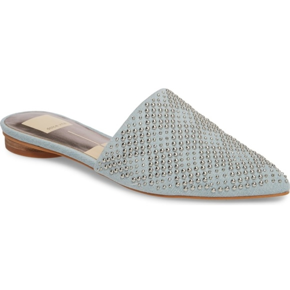 Elvah Denim Studded Mules